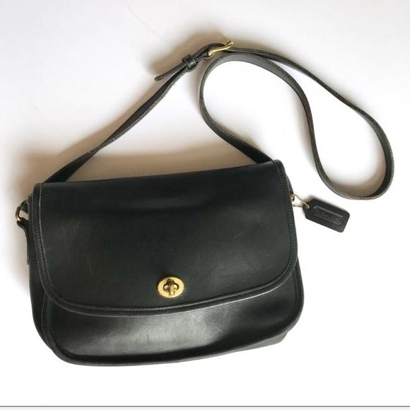 Coach Handbags - Vintage Coach Black City Bag Crossbody